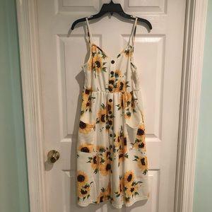 ZAFUL Sunflower Dress